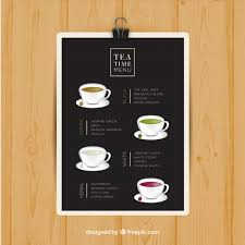 Tea Menu Template With Different Drinks Stock Images Page