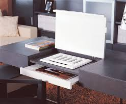 ezra contemporary office desk black gloss rectangle home office