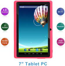 Haehne 7 Zoll Tablet PC, Google Android 4.4, A33 Quad Core, 512MB RAM 8GB  ROM, Dual Kameras, WiFi, Bluetooth, für Erwachsener Kinder, Pink:  Amazon.de: Elektronik
