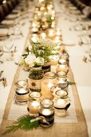 Military winter wedding, Devils thumb ranch, DIY, table center pieces,  mason jars