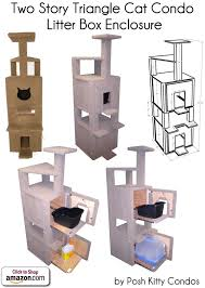 corner cat litter box furniture. Two Story Triangle Cat Condo And Litter Box Enclosure By Posh Kitty Condos - Price: Corner Furniture A