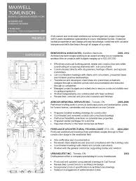 Resume - MAXWELL TOMLINSON Dip. Arch Tech., BCIN Architectural Technologist