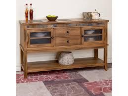 Sunny Designs Rustic Oak Sunny Designs Sedona Rustic Oak Server W 2 Drawers And