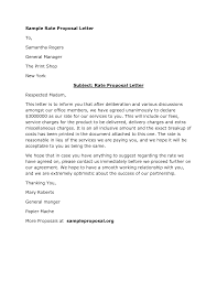 Sample Format Of A Proposal Letter Granitestateartsmarket Com