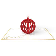 Christmas Card Picture Holiday Ornament 3d Christmas Pop Up Card Lovepop