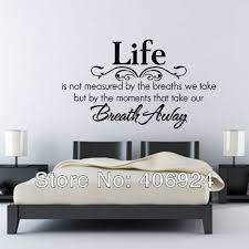 bedroom wall quote decals