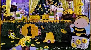 Bee Themed Birthday Chart Bumble Bee Theme Party Tulips Event Management