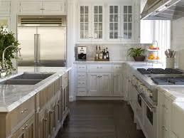 Kitchen:Excellent Kitchen Design With L Shape White Kitchen Cabinet And  Square Shape Double Kitchen