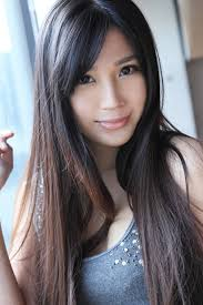 Asian women long hair