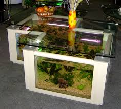 fishtank furniture. Modern White Nuance Of The Glass Table Fish Tank That Can Be Coffee Furniture Fishtank