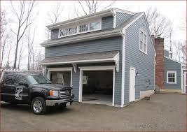 garage door overhangs over back door hmm son could you