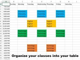 how to make a time schedule in excel how to make a study schedule from ehh to a