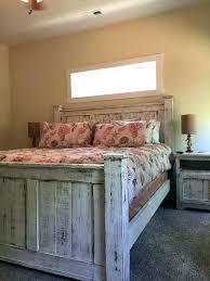 G Distressed Wood Bed Frames Frame Rustic  Bedroom Furniture Reclaimed Solid