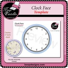 Clock Face Template By Boop Printable Designs Clock Face