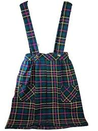 Vintage 10 Jane Fields Tartan Plaid Pleated Kilt Skirt & Suspender 60 70 -  Japan   eBay