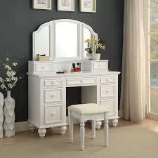 White Bedroom Vanity Set Stool — Fortmyerfire Vanity Ideas : Pretty ...