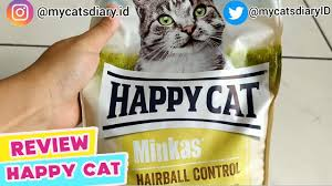 Review Catfood <b>Happy Cat Minkas</b> Anti Hairball | My Cats Diary ...