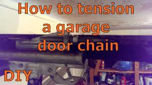 garage door chain off trackHow to tension a garage door chain  YouTube