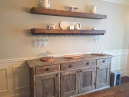 dining room credenza hutch. floating shelves in the dining room credenza hutch