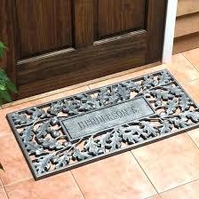 doormat for double doors home and interior astounding outdoor doormats of personalized door mats outside coco