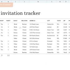 Excel Guest List 7 Free Wedding Guest List Templates And Managers Regarding Template
