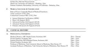 Cv Template Doctor Resume Examples
