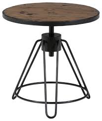 rustic round end table. Jofran 413 3 Distressed Rustic Pine Round End Table With Adjustable Height O