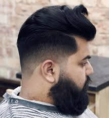 thick hair with mid fade cut