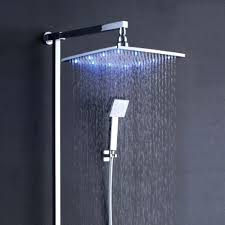 24 inch rainfall shower head led rain shower head set with hand held shower head installation