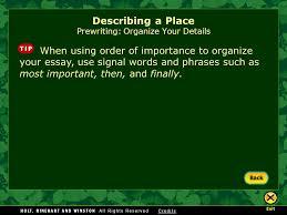 writing workshop describing a place ppt video online 25 describing