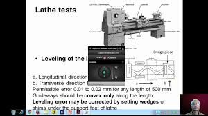 Test Chart For Lathe Machine Mod11lec1 Geometrical Tests On Lathe