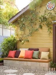 Diy outdoor seating Outside Diy Seating Area Better Homes And Gardens Cheap Backyard Ideas