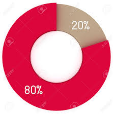 Pie Chart 20 20 80 Red And Brown Pie Chart Infographics