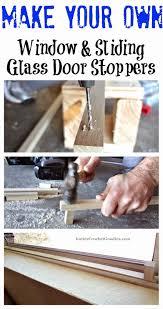 make your own sliding glass door stopper