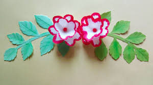 Flower Made In Paper Hi It Is A Beautifully Decorated Flower Made Of Paper That