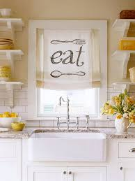 creative kitchen window treatment