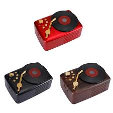 T12 Phonograph Wireless Bluetooth Speaker <b>Retro Wood Grain</b> ...