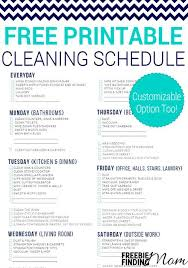 cleaning schedule printable free printable cleaning schedule best of freebie finding mom