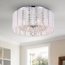 addison white 16 inch crystal flush mount free today com 17978954