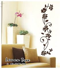 Small Picture Aliexpresscom Buy Black flower Vine Wall Stickers Refrigerator