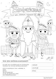 Kleurwedstrijd Maak Kans Op Een Sinterklaaspakket Sinterklaasfm