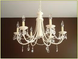diy crystal chandelier makeover