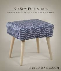 Build a No-Sew Footstool
