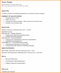 Internship Resume Examples Top 10 Objective And With College ...