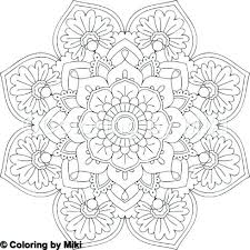 Stress Relief Coloring Pages Mandala For Flowers Sim Staranovaljainfo