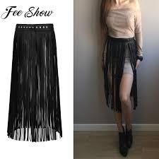las fashion faux leather hippie boho waistband long fringe tassel skirt belt high waist women long belt nightclub gold waist belt garter belt sets from