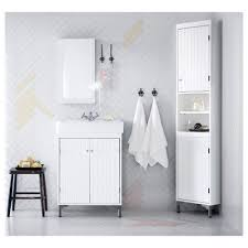 White Corner Bathroom Cabinet