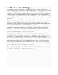 Cover Letter For Social Work Cv Resume Ideas
