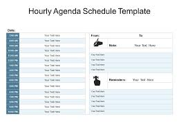 hourly agenda hourly agenda schedule template powerpoint guide