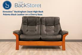 High Back Sofas stressless buckingham 2 seat loveseat high back sofa paloma black 8554 by guidejewelry.us